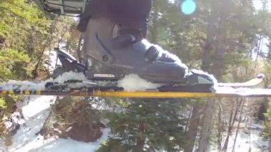Man on chair lift — Stock Video