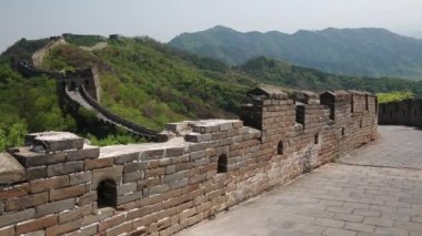 Tourists on the Great wall of China — Video Stock