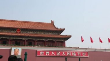The Forbidden City Palace Courtyard — Stock Video