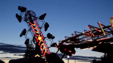 Two Carnival Rides — Stock Video