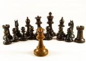 Chess The Queen Faces an Army — Foto de Stock