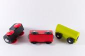 Se de trem de brinquedo de madeira — Fotografia Stock