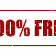 100 percent Free Rubber Stamp — Stock Photo #68160771