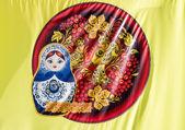 Babushka Matrushka bandiera — Foto Stock