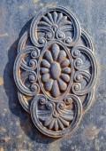 Grey Wrought Iron Detail — Stock Photo