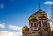 Classical Golden Church Spires — Stock Photo