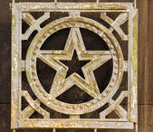 Wrought Iron Russian Star Decoration — Stock Photo