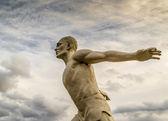 Stone Statue Runner Man — Stock Photo