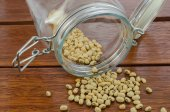 Blackeyed peas in  a jar — Stock Photo