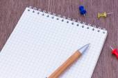Blank page notepad — Stock Photo