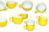 Large yellow cup — Stock Photo