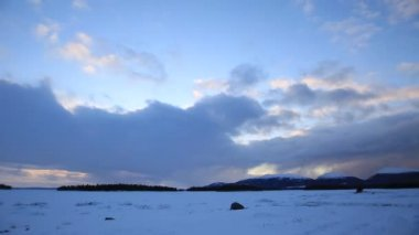 Winter clouds timelaps — Stock Video