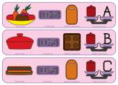 Colorful Kitchen icons for usually food — Stock Vector