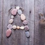 Stone alphabet - A — Stock Photo #67363923