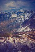 Altes Photo von Tatra-Gebirge-Landschaft — Stockfoto