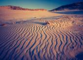 Vintage photo of sand dunes landscape — Stock Photo
