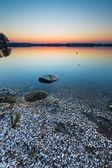 Lake landscape at sunset — Fotografia Stock