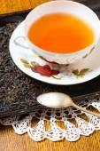 Tea setting on table — Stock Photo