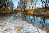 Winter river in forest — Stock Photo