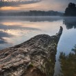 Beautiful sunrise over misty lake. — Stock Photo #71217015
