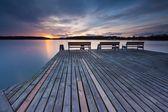 Lake in Mazury lake district — Stock Photo