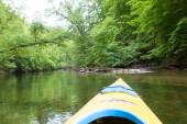 Kayaking by Krutynia river in Poland — Stock Photo