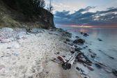 Rocky Baltic sea shore — Stockfoto