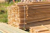 Wooden planks from sawmill — Stock Photo