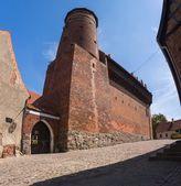 Old teutonic castle in Olsztyn — Stock Photo