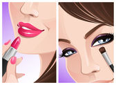 Close-up makeup — Stock Vector