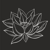 Lotus flower doodle symbol — Stock Vector