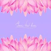 Pink lotus flower — Stock Vector