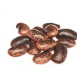 Pile of raw organic beans isolated on the white background — Stock Photo #78271054