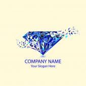 Gems and jewellery logo — Stock Vector