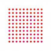 Quadrato di ram caramelle, perla di colore variopinto — Vettoriale Stock