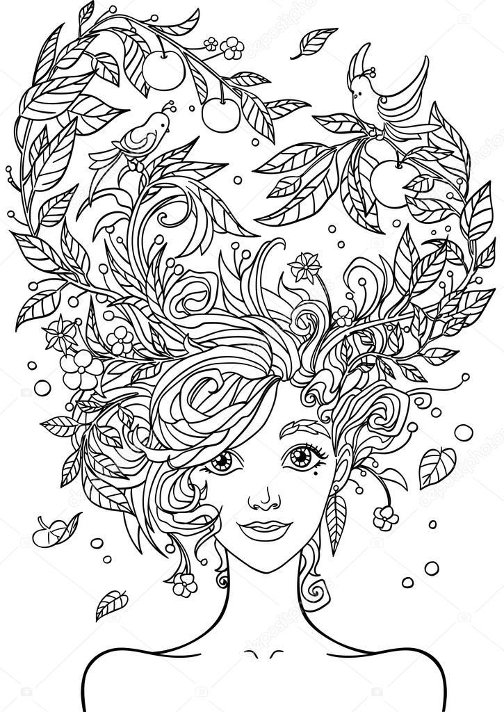 Раскраска девушка - 7