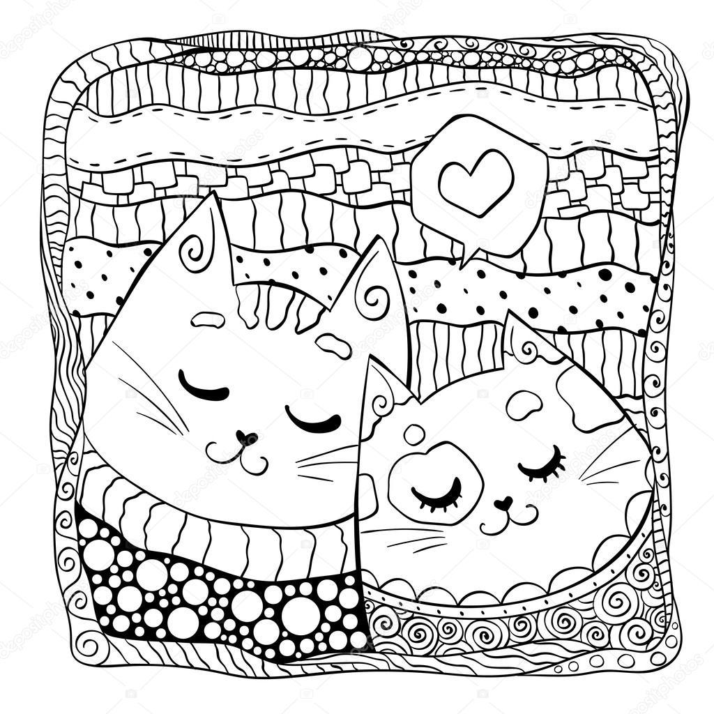 katten in de liefde ontwerp voor valentijnsdag