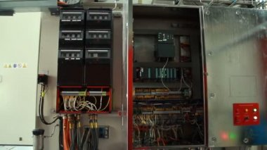 Automation atex safety regulation panel board — Stock Video