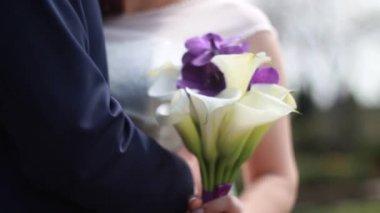Svatební kytice nevěsty — Stock video