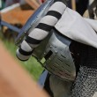 Defeated knight on festival of medieval culture — Stock Photo #76032317