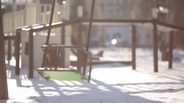 Teeter winter — Stock Video