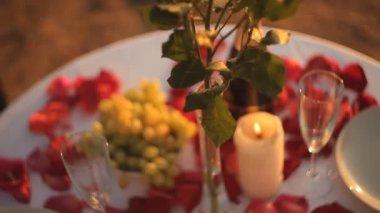 Romantic Dinner — Stock Video