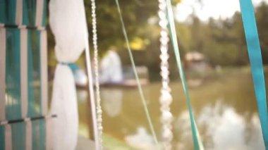 Wedding ribbon — Stock Video