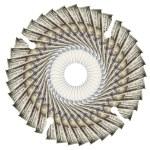 Symbol circular saw blade of dollar, isolated on white backgroun — Stock Photo #71343229