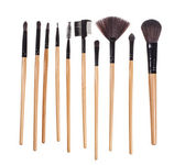 Make up brushes, isolated on white - Stock image — Stock Photo