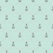 Deniz ip ve küçük çapa sorunsuz File desen — Stok Vektör