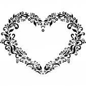 Вышивка в стиле формы сердца — Cтоковый вектор
