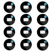 Correspondence set of icons — Stok Vektör