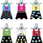 Girls wardrobe - dresses — Stock Vector #70321987