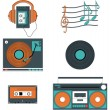Music players and components — Stock Vector #70819097
